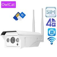OwlCat Full HD 1080 P 960 P HD Kamera IP Bullet Bezprzewodowa GSM 3G 4G Karty SIM Kamera IP Wifi Outdoor Wodoodporna iPhone Android