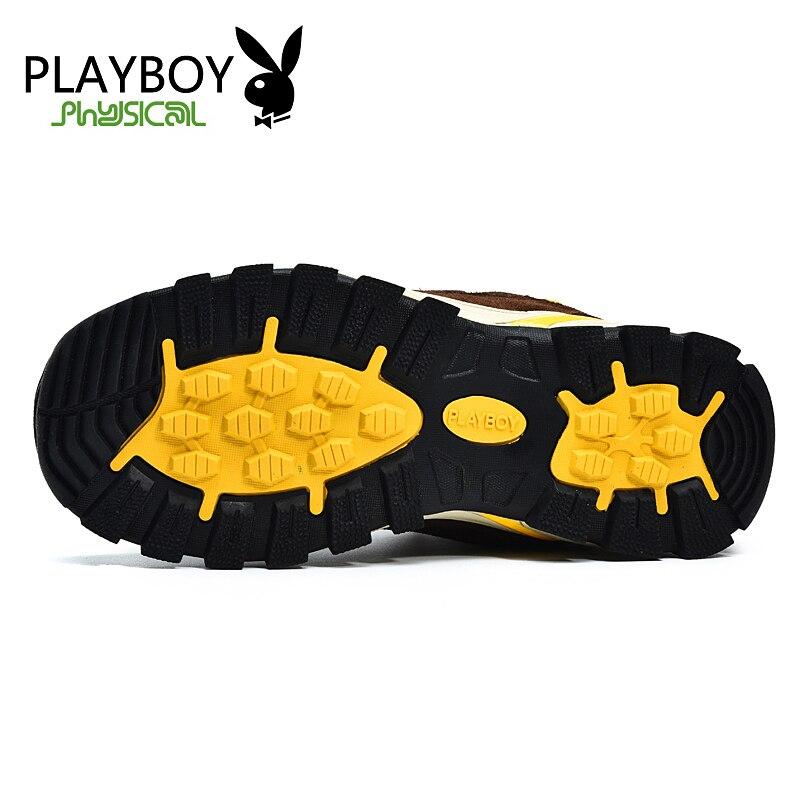 PLAYBOY Pria Luar Sepatu Berjalan Mendaki Sepatu Gunung sepatu Nyaman Sepatu  Olahraga Sepatu Hangat di Sepatu 5989b33b98