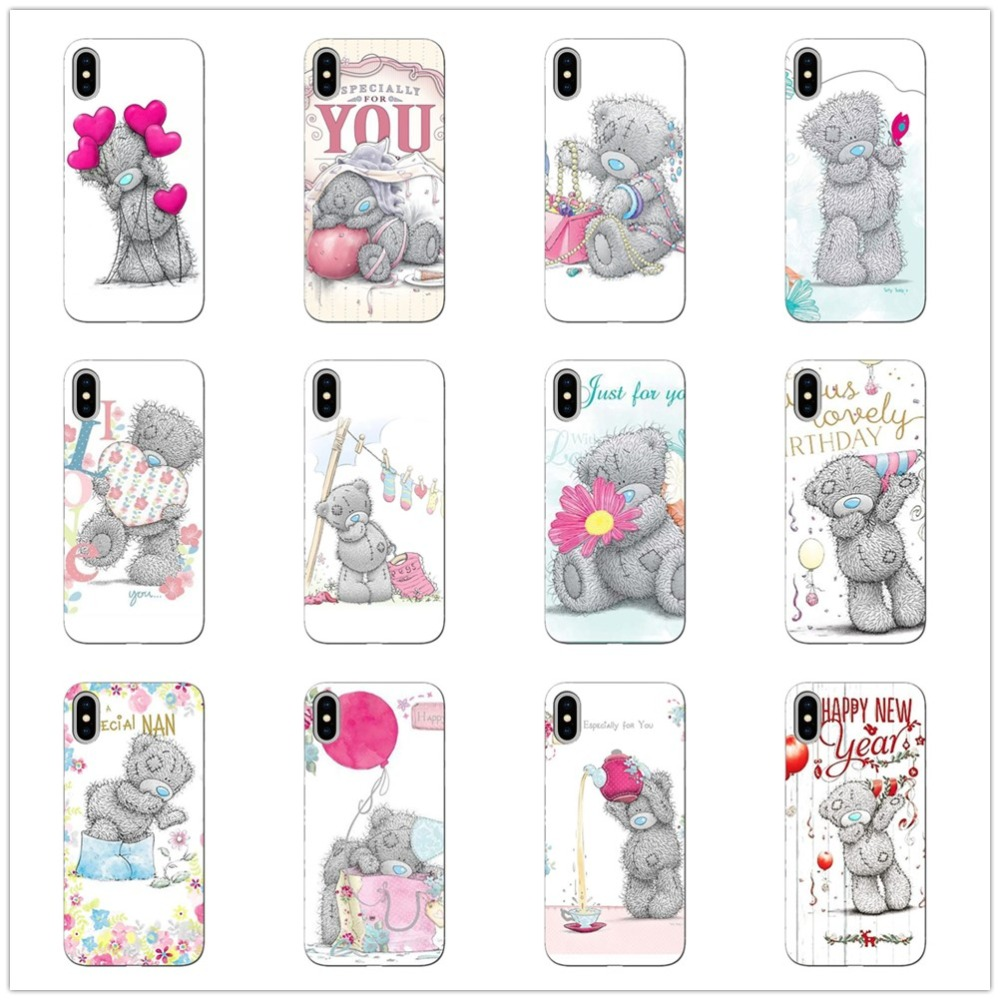 silicone phone case For iphone XS Max Tatty Teddy Me To You Bear Phone Covers iPhone  11 11PRO MAX 8plus XR X