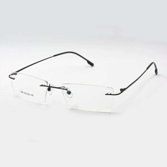 ec1bed64e4e Reven Jate Titanium Memory Flexible Rimless Frame Eyeglasses Optical  Prescription Glasses for Women and Men Frame