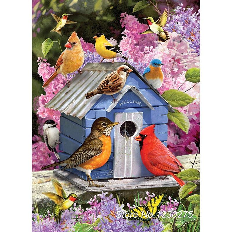 Needlework Diy Diamond Painting cross stitch bird house Handwork Diamond Embroidery Full Diamond Mosaic Decor BD766