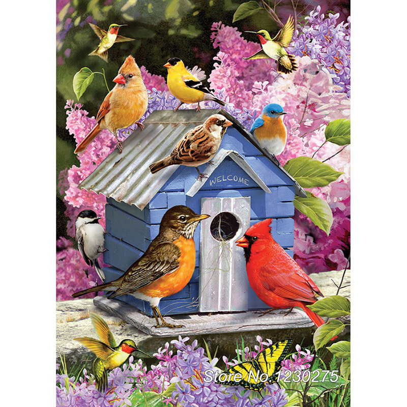 Needlework Diy Diamond Painting cross stitch bird house Handwork Diamond Embroidery Full Diamond Mosaic Decor BD766