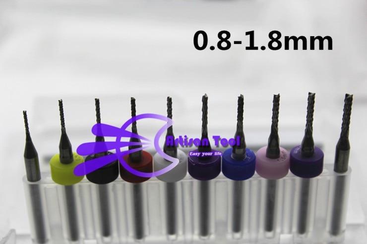 0,8-1,8 mm volfrám-keményfém végmaró gravírozó bitek CNC-maró - Fúrófej - Fénykép 5