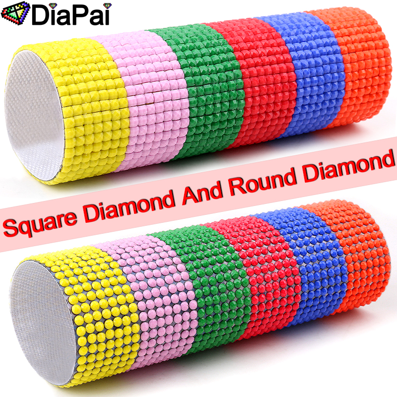 DIAPAI Diamond Painting 5D DIY 100 Full Square Round Drill quot Character feather quot Diamond Embroidery Cross Stitch 3D Decor A24730 in Diamond Painting Cross Stitch from Home amp Garden