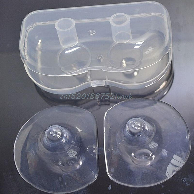 2Pcs Silicone Nipple Shields Protectors Shield Breast Feeding for Baby New #T026#