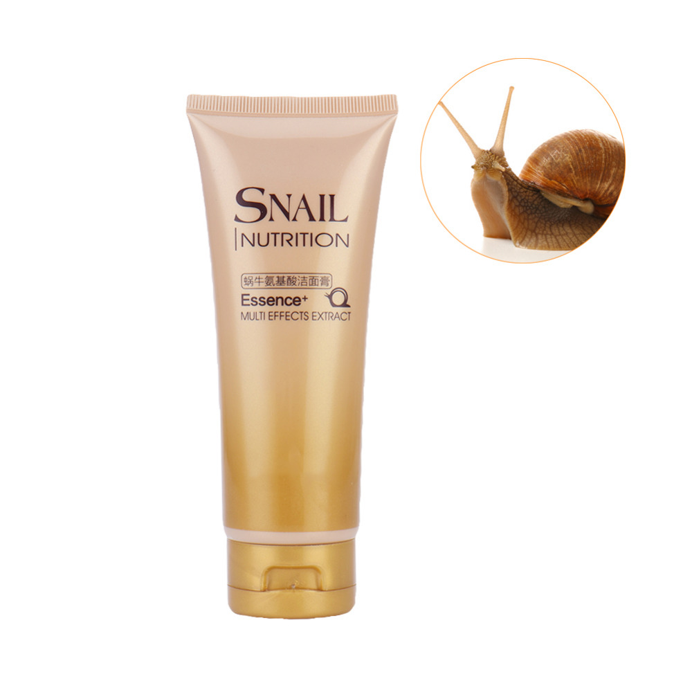Snail Nutrition Essence Multi Effects Extract Face Cleanser Moisturing Whitening Deep Cleansing Gel Oil Control Exfoliating