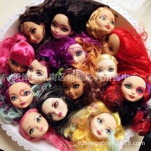 Cabeças de boneca 5 peças para bonecas monster, cabeças de boneca para sempre após bonecas, cabeça diy para meninas presentes