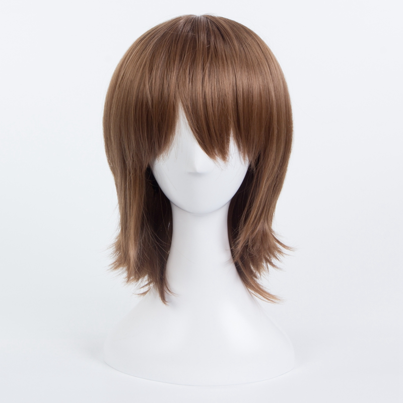 Persona Goro Akechi Short Straight Cosplay Wig for Man Unisex Anime wig Costume Party Brown Heat Resistant Synthetic Hair Wig hot harajuku synthetic hair wig anime cosplay party wig women long curly dark blue wig for black women heat resistant peruca wig