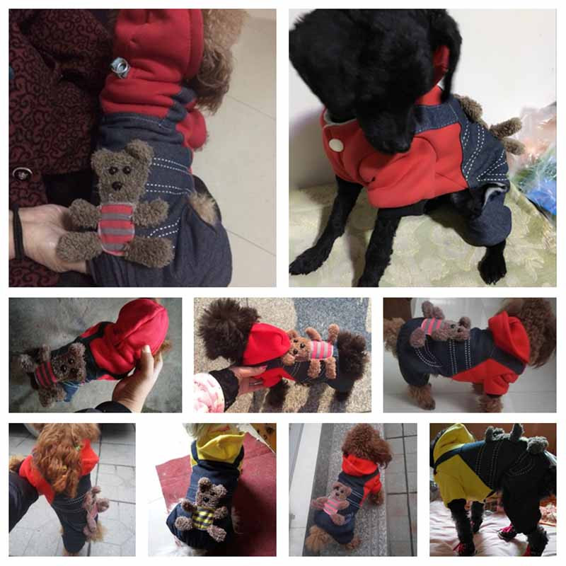 SYDZSW New Chihuahua Clothing Red Yellow Sport Dog Coat Hoodie for Small Dogs Cats Puppy Pet Jeans XS S M L XL XXL Dog Costume Wholesale