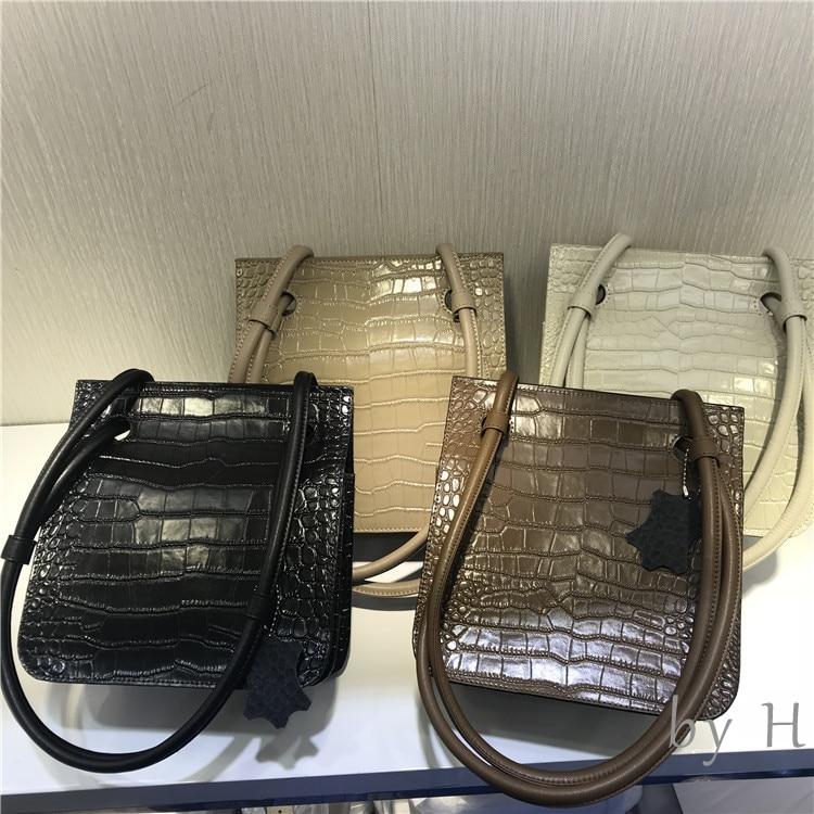 by H 2019 new alligator flap bag ladies designers croco embossed shoulder bag cool girls chic handbag fashion bloger hoilday bag