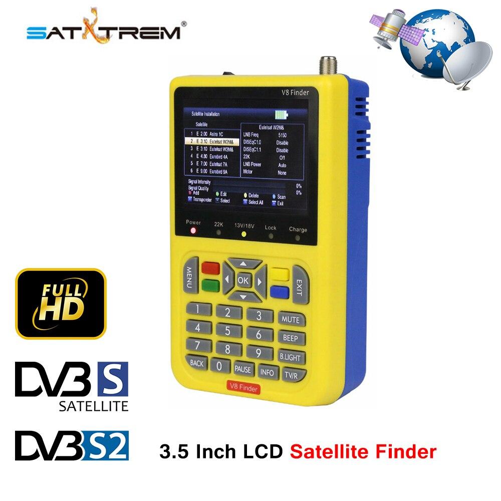 SATXTREM V8 Finder HD DVB-S/S2 Satellite Finder haute définition MPEG-4 DVB S2 Satellite mètre complet 1080 P FTA Satfinder