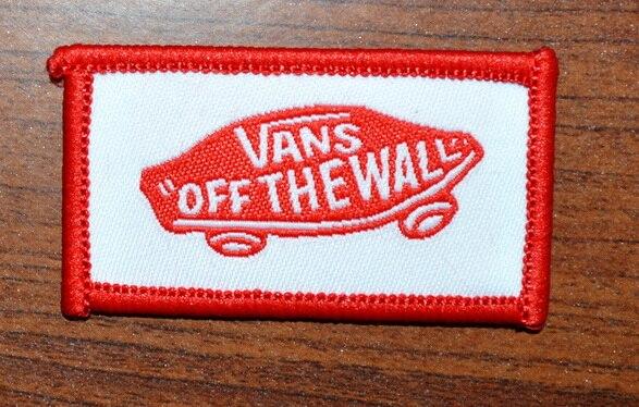Лидер продаж комплектов!~ VANS от стены красный автомобиль полоса железа на заплатках, нашивка на одежду, Аппликации, сделано из ткани, гарантированное качество