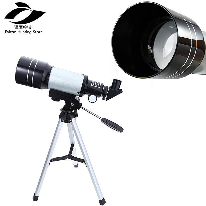 Spotting Scope Telescope 150X Professional Astronomical Monocular Telescope Refractive 300/70mm HD with Tripod Kids Gift