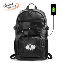 BS Travel Men Backpack Casual Laptop Computer Bags with USB Charging Port Lightweight Waterproof School Bags for Travel College