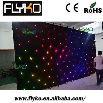 Livraison gratuite CE, RoSH 3X6 M étoile rideau scène décoration led étoile toile de fond