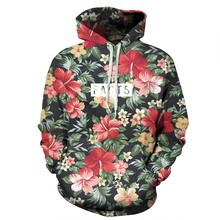 Men Women 3D Print Floral Flowers Hooded Letters Facts Hoodies All Over Printed Outfit Streetwear Tops Clothing Dropship Hoody