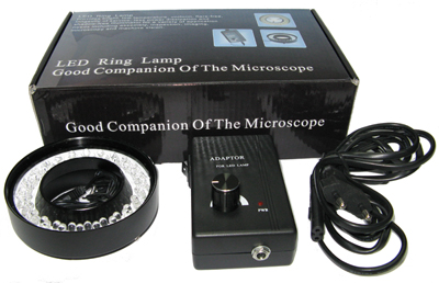 Metal LED Ring Light 48pcs Particles for Stereo Microscope led ring light for microscope sz 8 free shipping cost