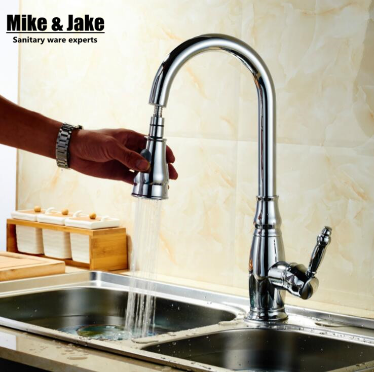 2016 New chrome pull out kitchen faucet whole brass kitchen sink faucet mixer kitchen faucets pull out kitchen tap new chrome pull out kitchen faucet square brass kitchen mixer sink faucet mixer kitchen faucets pull out kitchen tap mj5555