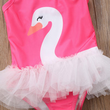 Summer Baby Girl Swan Princess Tutu Swimwear