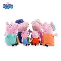 Genuine Peppa Pig Family Plush Toys Peppa George Pig Family Toys For Children Hobbies Dolls Stuffed
