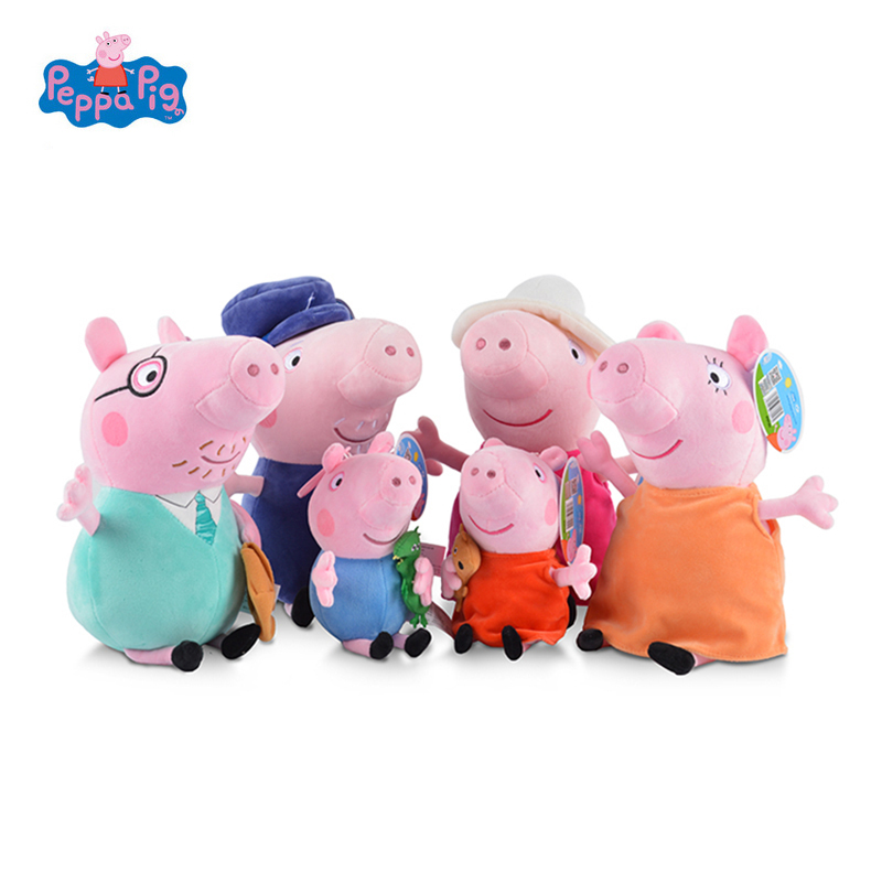 Best Peppa Pig Toys : Genuine peppa pig family plush toys george