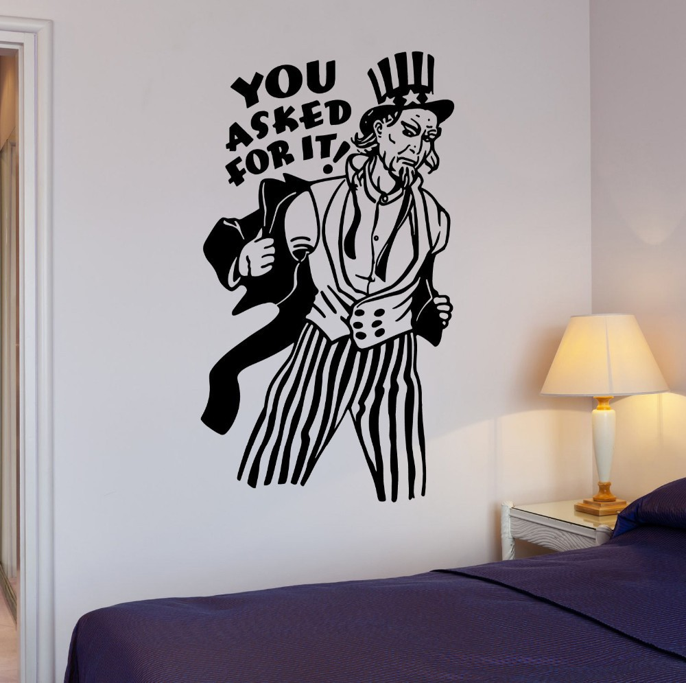 online buy wholesale removable wall stickers usa from china  -  limited real diy uncle sam wall stickers vinyl removable bedroom sofatv background decals murals