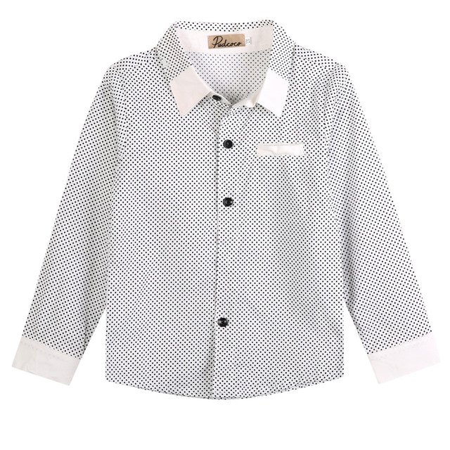 7ddf980496302 2016 Fashion Kids Boys Formal Shirt Plain Long Sleeved Polka Dot Lapel  Party Shirt-in Shirts from Mother & Kids on Aliexpress.com | Alibaba Group