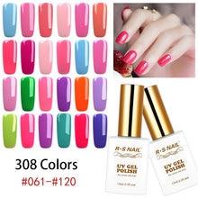 RS NAIL 15ML UV Gel 308 Colors Soak Off Polish LED Lamp Quick Dry Varnish Lacquer Choose Any 1 Color Nail