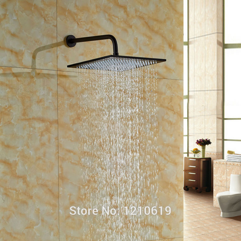 Newly Luxucy 16 Inch Top Shower Sprayer w/ Wall Mount Shower Arm Oil-rubbed Bronze Bath Shower Head стоимость