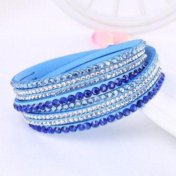 Crystal Multi-Layer Wrap Bracelets Bracelets Jewelry New Arrivals Women Jewelry Metal Color: sky blue