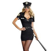 4b81335439f Sexy Costume de fête de haute qualité 2018 adulte femmes officier vilain  Police Costume Halloween tenue robe carnaval Police uni.
