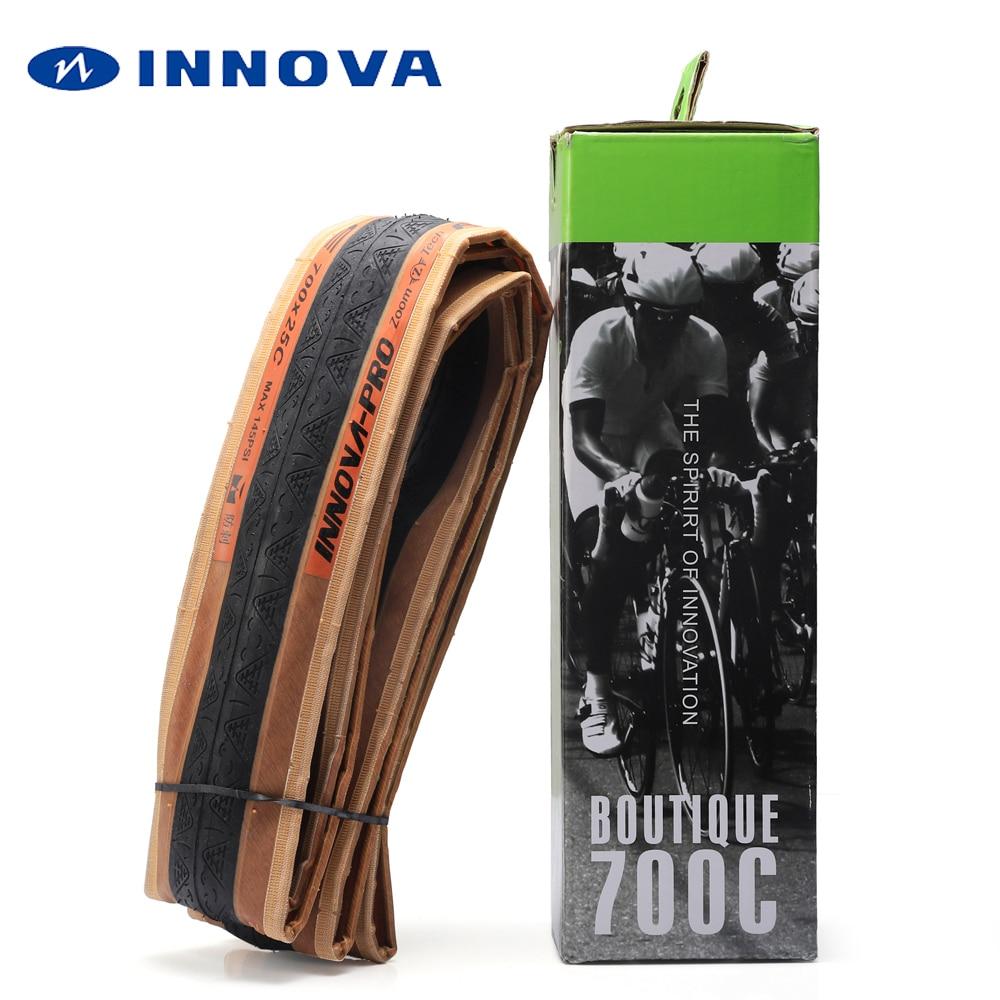 Pneu de vélo INNOVA 700 700 x 23C 25C 120TPI Kevlar anti crevaison pneus de vélo de route ultraléger 210g pneus de course pneu pliant 700C