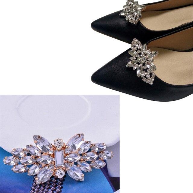 772a7270199b4 1 Pc 2019 جديد كريستال الزفاف سحر ديكور أزياء إكسسوارات أحذية الأحذية مشبك  النساء الأحذية الديكور