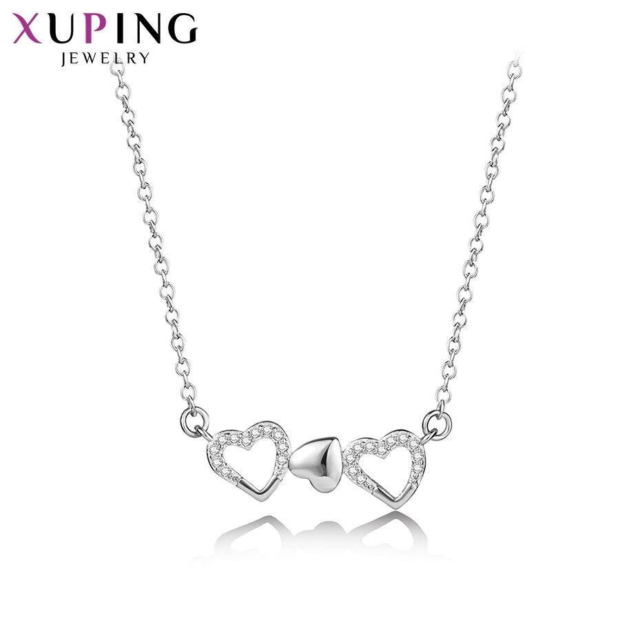 11,11 сделок Xuping темперамент простой форме сердца кулон с Синтетические ювелирные изделия CZ для Для женщин Рождество подарок M54-40088