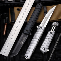 2018 New Free Shipping Outdoor Fruit Folding Knife Self defense Wilderness Survival 7CR17Mov Steel for Sharp Hunting Knives
