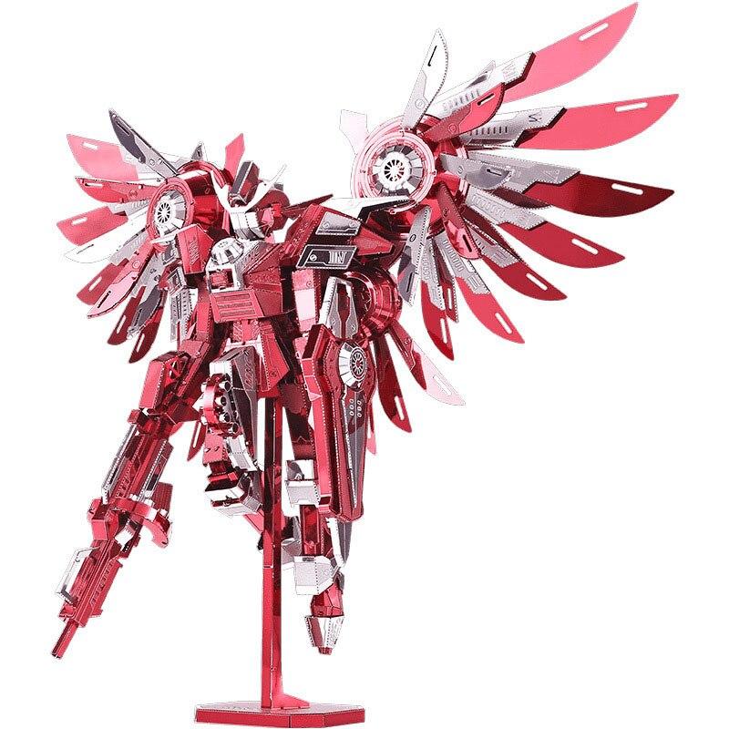 Coloré 3D bricolage métal Cool Robot combat ange modèle jouets stéréoscopique créatif combattant armure main Puzzle jouet Collection