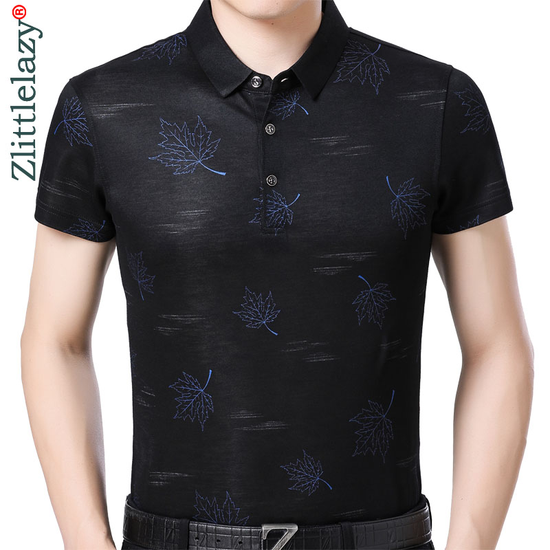 2019 mens clothing short sleeve   polo   shirt summer pol men flower brands   polos   tee shirts dress streetwear male poloshirt 9101