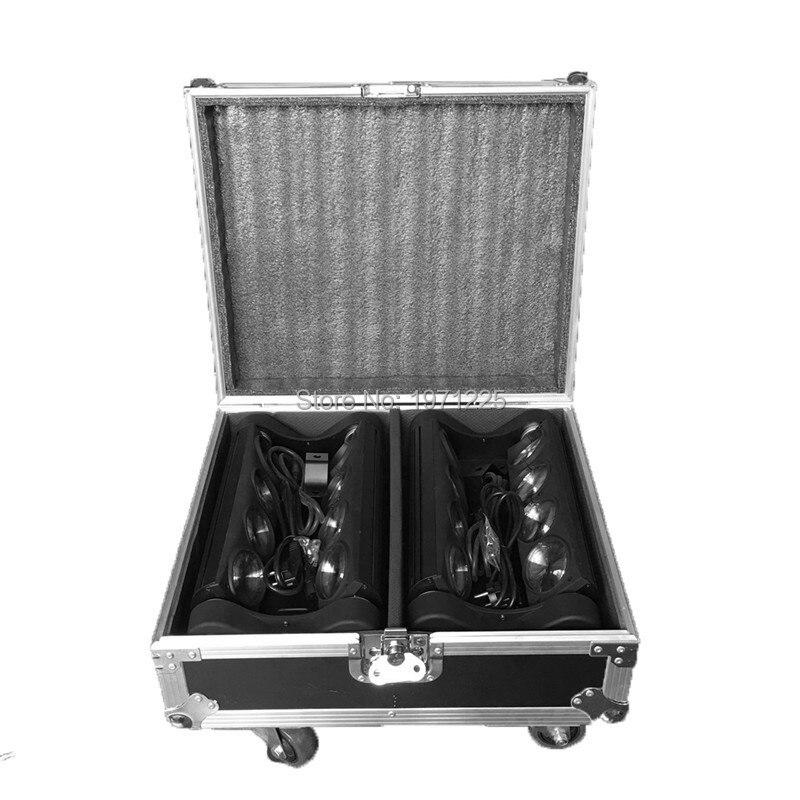 Ny Flight Case for 2 STK rgbw 8x10w led edderkopp bjelke bjelke - Kommersiell belysning - Bilde 2
