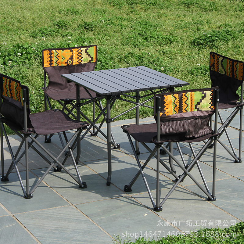 510a2778526d US $29.99 |Outdoor camping folding beach casual table and chairs 5 piece  aluminum alloy self driving picnic table and chairs set LM01101831-in  Outdoor ...