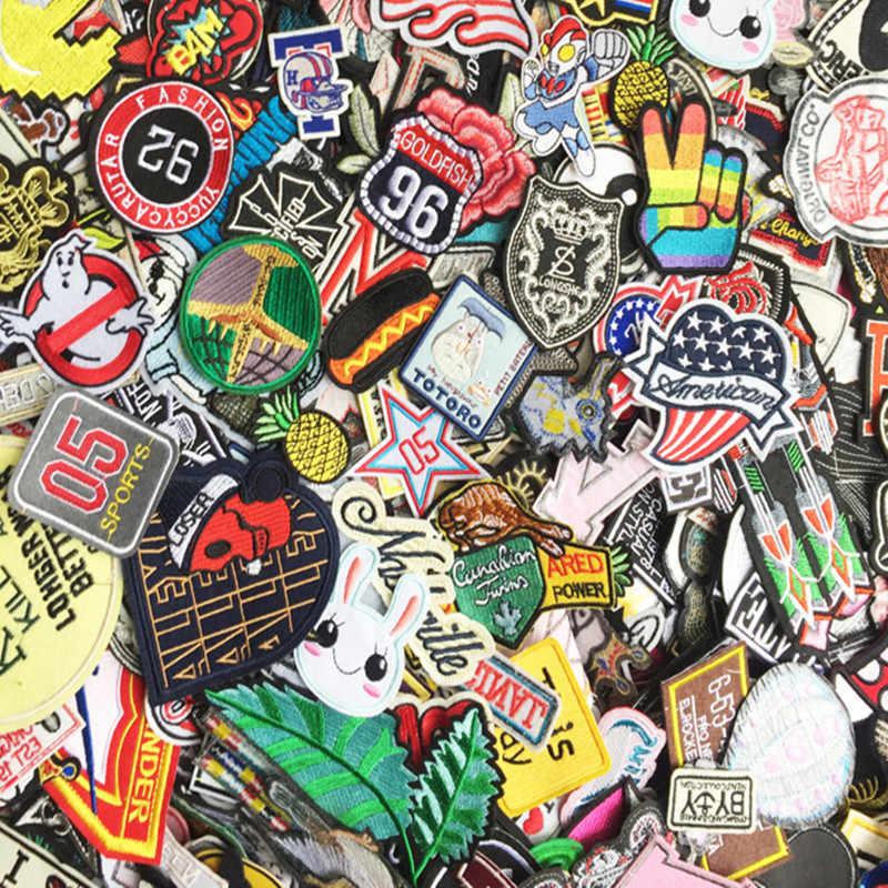 20 pz/set di Ferro Mista su Toppe e Stemmi Per Abbigliamento Camicia Giacca Ricamata di Abbigliamento Toppe e Stemmi Stripes Adesivi Jeans decorazione