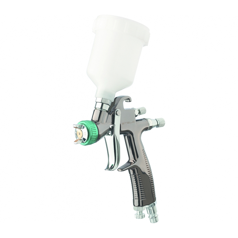 Фото - Spray gun pneumatic STELS 57369 portable gravity type w 77s pneumatic spray gun with non corrosive alloy pot diameter100 150mm for wooden furniture car wall