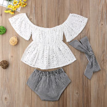 3pcs Toddler Baby Girl Outfits Set clothes