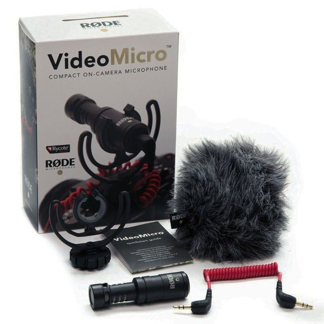 High-Quality Rode VideoMicro Compact On-Camera Recording Microphone for iPhone 6s Plus DJI Osmo DSLR Camera Microfone DSLRK