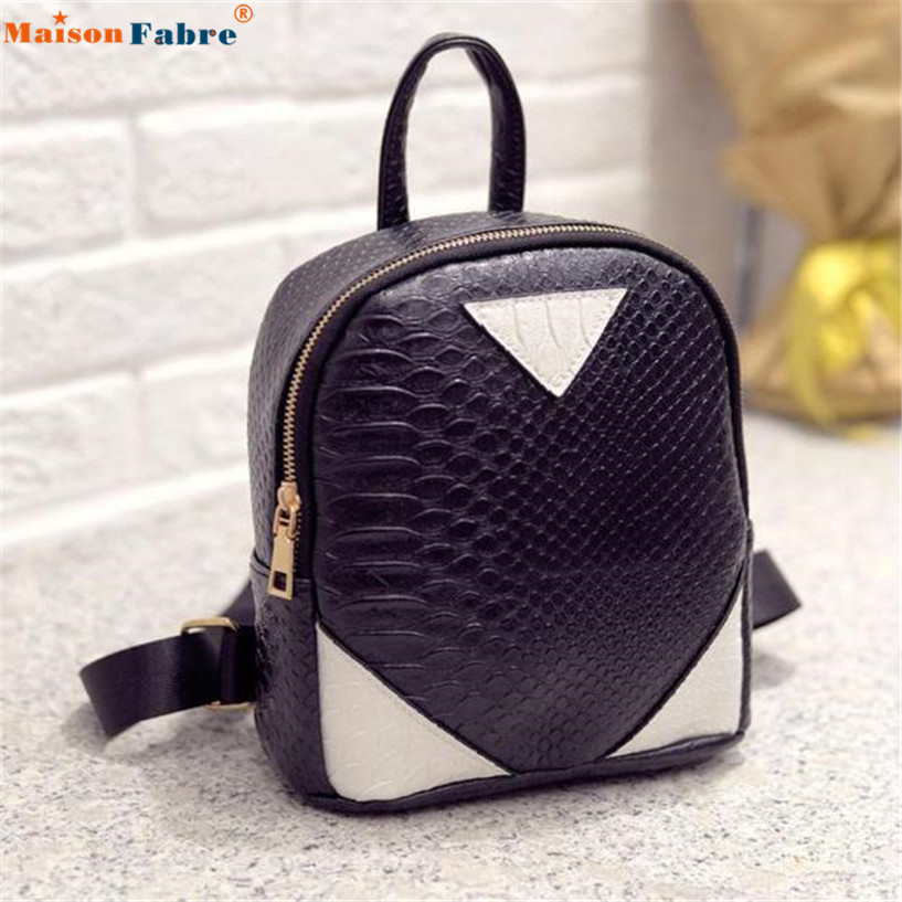 Hot Sale Women Canvas Rucksack concise Serpentine Backpack School Book Shoulder Bag wholesale 2016 hot sale fashion canvas cute mustache school book bag vintage women backpack casual women backpack