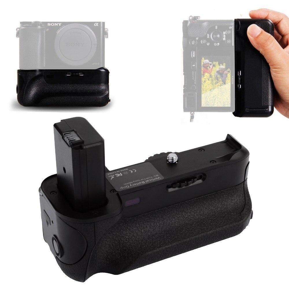 Micro USB poignée verticale batterie support de prise en main Pack + télécommande IR pour Sony A6000