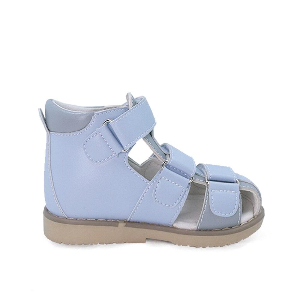 sandália couro crianças verão sólido microfibra orthotic