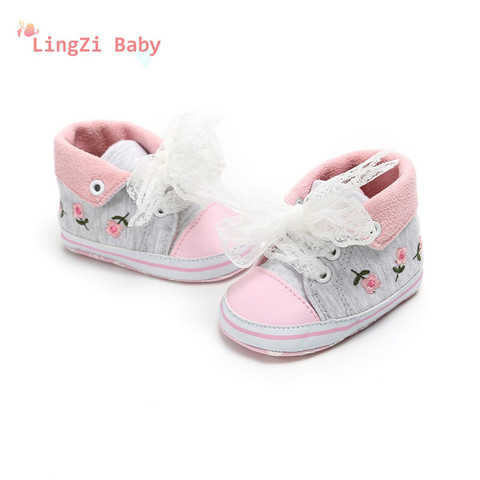 Baby Shoes Baby The First Walker Shoes Baby Girl With Delicate Embroidery Flowers Soft Bottom Toddler Shoes Islamabad