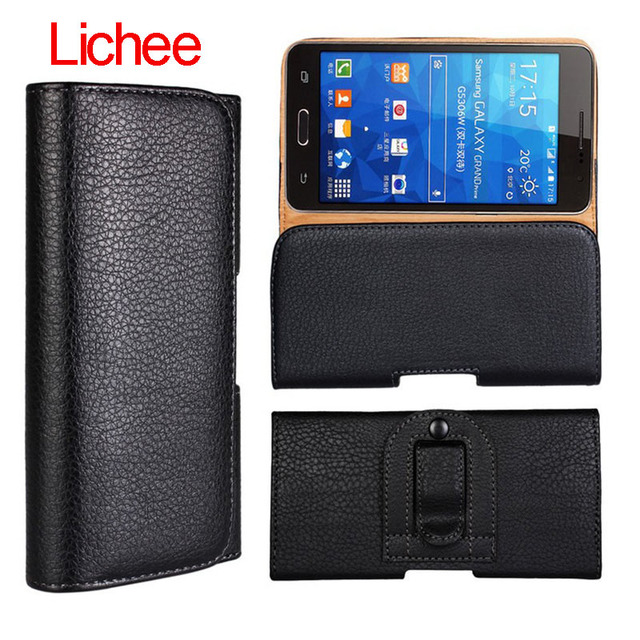 "5.5-5.7 inch for THL T9 Belt Clip Holster Flip Leather Case Cover For Meizu PRO 5 5.5"" Mobile Phone Bags"