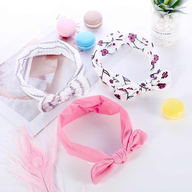 ילדים בגימור קשת עבור ילדה ארנב אוזן Hairbands טורבן קשר ילדים טורבנים אביזרים בגימור תינוקת באיכות גבוהה