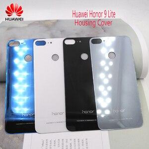 Image 1 - Huawei 社の名誉 9 Lite のオリジナルバックカバー PC + ガラスバッテリーケース、名誉 9 Lite ドアリア交換ハウジングカバーとロゴ